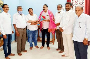 Kola Rajesh Goud receives Honor