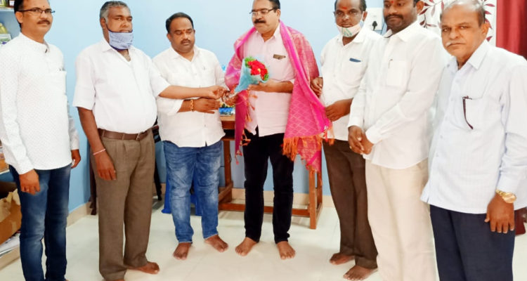 Kola Rajesh Goud receives Honor